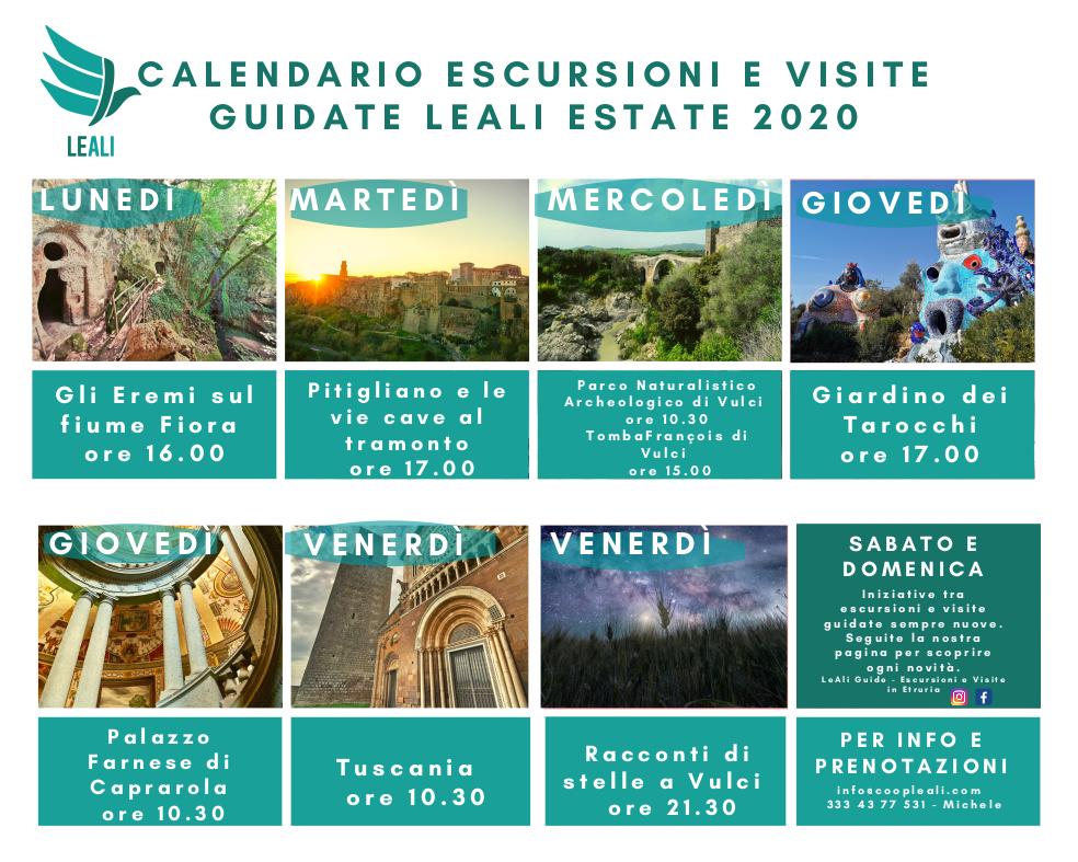 calendario estate LeAli sud 2020